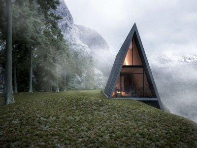 Construir esta casa en un acantilado nos traerá la vista más espectacular de la naturaleza