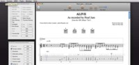 Tablatures, programa de tablaturas para Mac