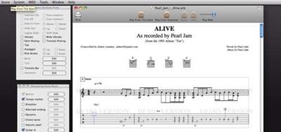 Tablatures, programa de tablaturas para Mac