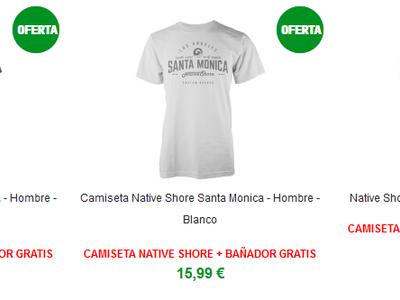 En Zavvi puedes hacerte con una camiseta Native Shore y de regalo un bañador gratis por 15,99 euros