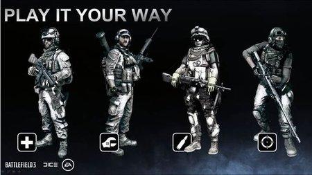 'Battlefield 3' y sus cuatro clases al detalle. ¿¡Medic!?