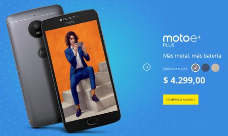 Moto E4 Plus Precio Mexico