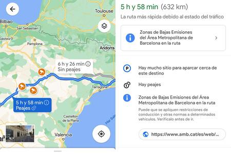 Google estudia añadir el precio de los peajes a Google Maps