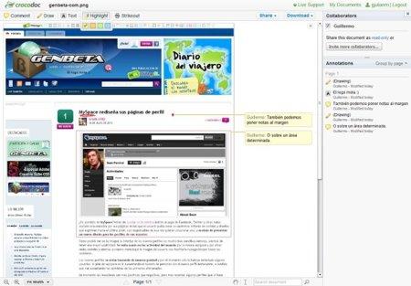 Crocodoc, edita y anota fácilmente PDF, documentos e imágenes