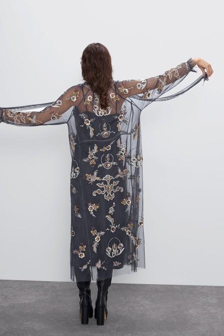Vestido Tul Bordado Zara 03