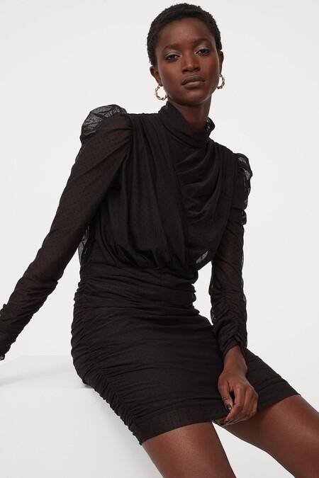 Vestido Navidad 2020 Hm Negro 01