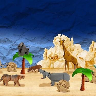 19 manualidades fáciles con niños: figuras de papel realizadas con el arte japonés de origami