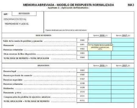 Obligaciones de informaci n contable en las empresa inactivas for Memoria empresa