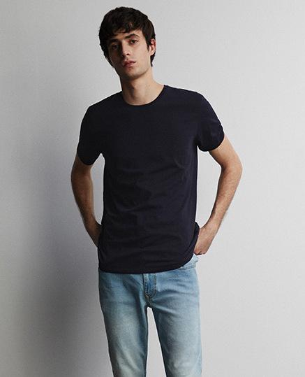 Camiseta en algodón lisa
