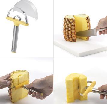 Pelador y cortador de piña