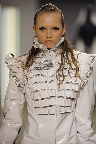 Gareth Pugh en la Semana de la Moda de París Primavera-Verano 2009