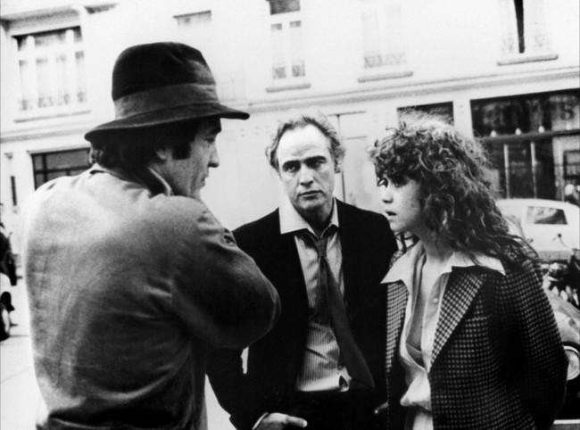 Bertolucci habla con los actores de El Último Tango en París