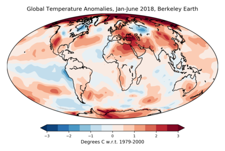 Global Temperature Anomalies Jan June 2018 Berkeley Earth 1024x688 1