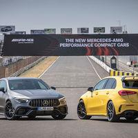 Los Mercedes-AMG A 45 S y CLA 45 S, de 421 CV, ya tienen precio para España: desde 73.050 y 76.725 euros