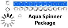 Aqua Spinners, pon un icono de espera a la Aqua