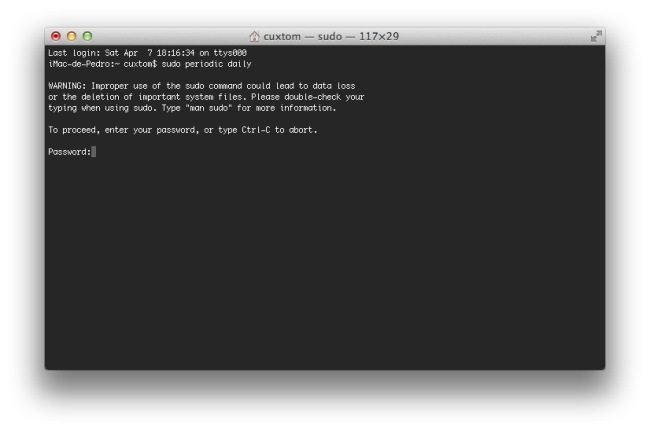 Scripts de mantenimiento de OS X