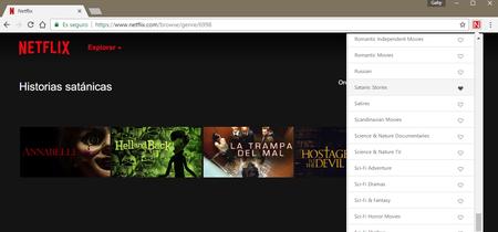 Ya tenemos una extensión de Chrome para acceder a todas esas categorías secretas de Netflix