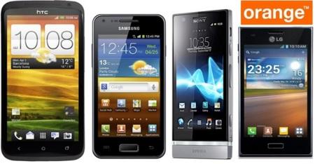 HTC One X, Sony Xperia P, Samsung Galaxy Advance y LG Optimus L5 con Orange en julio. Tenemos los precios