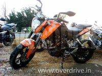 Foto espía de la KTM 200 Duke para el mercado indio