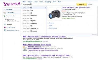 """Yahoo está probando Rich Search Assist, su propio servicio """"Instant"""""""