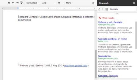 Inserción de cita en Google Drive
