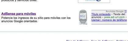 Google Adsense for Mobile, o se abre la veda de la Internet móvil