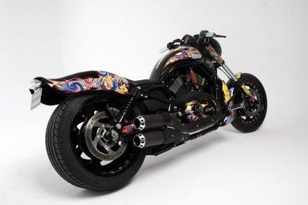 La moto de lujo 'Harley-Davidson Custo' a subasta en la Sala Balclis, Barcelona