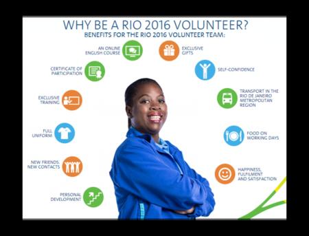 Voluntarios en los Juegos Olímpicos 2016, un turismo diferente