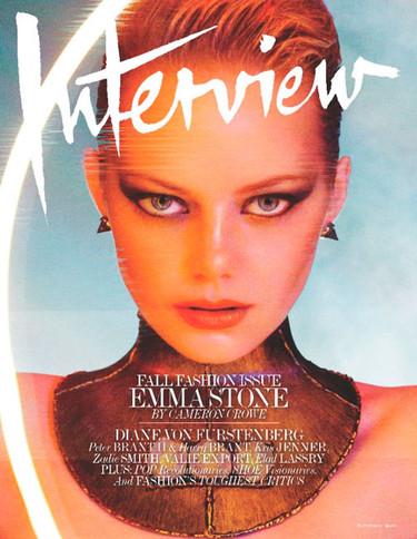 Emma Stone, qué ochentera te me pones en Interview