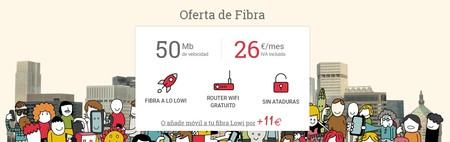 Lowi recula y vuelve a subir su oferta de solo fibra a 30 euros