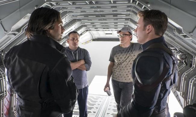 Joe y Anthony Russo en el rodaje de Capitán América: Civil War