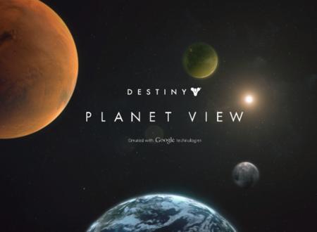 Bungie lanza una página tipo Google Earth de Destiny