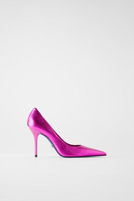 Zapato Metalizado Piel