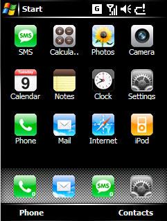 El look del iPhone en Windows Mobile