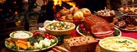 Imágenes de la comida de Navidad vistas de (muy) cerca