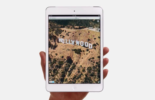 Pantallazo del comercial Hollywood sobre el iPad