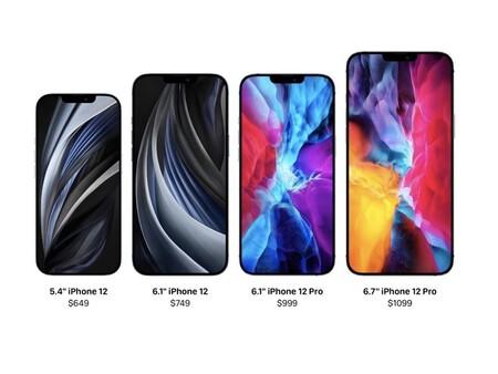 iphone 12 tamaños