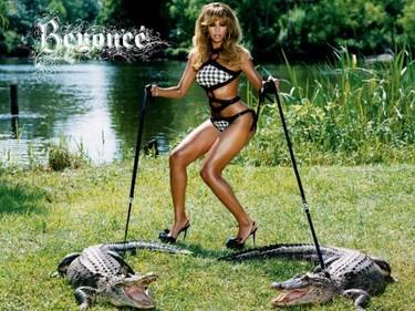Beyoncé en una habitación, su equipaje en otra