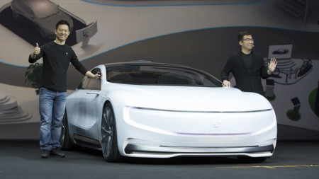 Jia Yueting Ceo Founder Leeco With The Super Car Lesee Concept Car