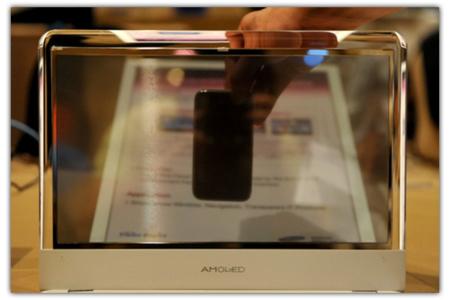 Samsung y su portátil con pantalla AMOLED transparente
