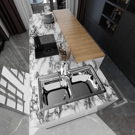 Vinilo efecto mármol para encimera de cocina