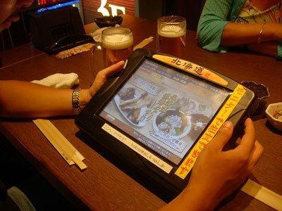 Tablet Pc para pedir en un restaurante