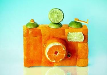 El arte de Dan Cretu: Fotografía de objetos hechos con alimentos