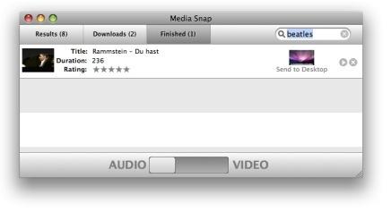 Media Snap, descarga de You Tube y extrae el mp3