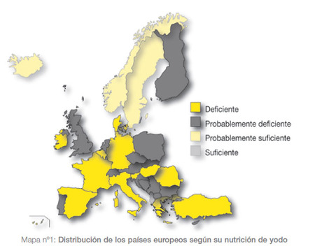 Mapa de déficit de yodo