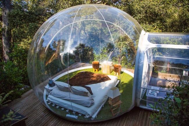 ¿Domirías en una burbuja transparente en mitad del bosque?