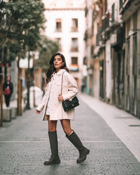 Street Style Bota Agua Khaki Zara 03