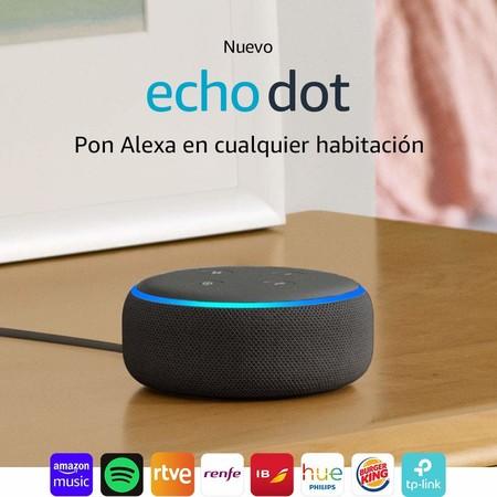 Echo Dot, el altavoz inteligente con Alexa más vendido, rebajadísimo hoy en Amazon: 34,99 euros y envío gratis