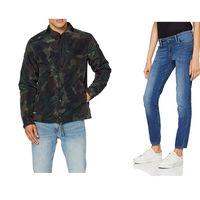 Chollos en tallas sueltas de pantalones, camisetas y chaquetas de marcas como Levi's, Hackett, G-Star o Superdry en Amazon