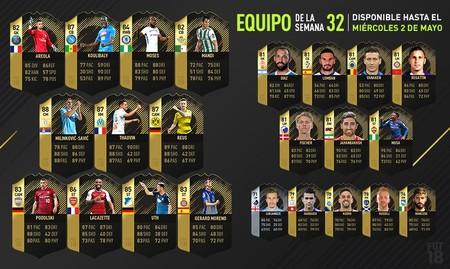 El equipo de la semana de FIFA18 es ideal para mejorar tu equipo sin gastar muchas monedas